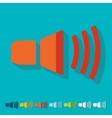 Flat design sound on vector image