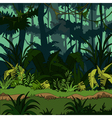 cartoon green thickets in the jungle vector image