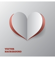 Abstract paper hearts over grey background vector image