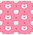 cat and kitten faces seamless pattern vector image
