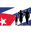 Cuba soldier family salute vector image
