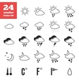 Exclusive set of weather forecast icons vector image
