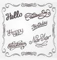 handwritten lettering vector image