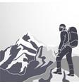 mountaineering icon vector image