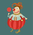 Funny clown art- vector image vector image