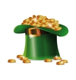 st patrick day hat coins golden shiny vector image