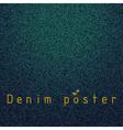 Denim poster vector image vector image