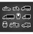 Set of stickers transport symbols vector image