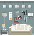 elegant living room vector image