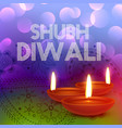 colorful happy diwali greeting card vector image