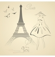 French retro style vector image