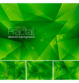 fractal green vector image vector image