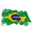 Brazil Flag Grunge vector image vector image