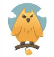 cartoon glossy owl vector image vector image