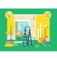 Renovation apartment flat design vector image