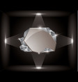empty frame in a cube vector image vector image