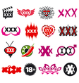 Biggest collection of logos xxx vector image