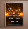 christmas flyer design card template with balls vector image