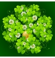 clover glade in the shape of quatrefoil vector image