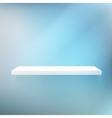 Detailed of white shelves vector image