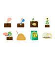 farm and agriculture icons in set collection for vector image