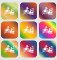 musical note music ringtone icon Nine buttons with vector image