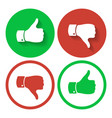 thumb up and down symbols human hand icon vector image