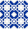 tile indigo blue decorative floor tiles pattern vector image