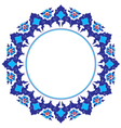 Frame with flowers of Ottoman art vector image