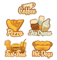 coffee and fast food vector image vector image