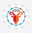 2015 Calendar 2015 Happy new year Calendar vector image