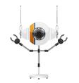 Robots white vector image