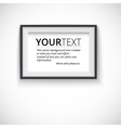 Picture wood frame horizontal for image vector image