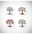 Tree seasons vector image