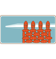 Cheerful purl stitches vector image