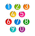 Numbers set vector image vector image