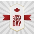 Happy Canada Day greeting Badge vector image