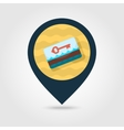 Electronic keycard pin map icon Summer Vacation vector image