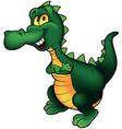 Cheerful Dino vector image