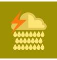 flat icon on stylish background thunderstorm rain vector image