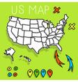 Hand drawn USA map vector image