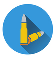 Icon of rifle ammo vector image