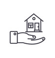 safety house line icon sign vector image