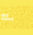 seo tools background with line icons vector image