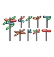 street signs of arrows vector image
