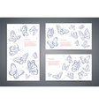 Set of butterfly business cards vector image vector image