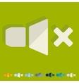 Flat design sound off vector image