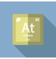 Chemical element Astatine Flat vector image vector image