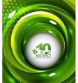 green swirl background vector image vector image