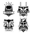 american football emblems vector image